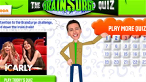 The BrainSurge Quiz Screenshot Picture