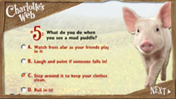 Charlotte's Quiz Screenshot Picture