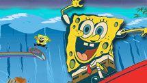 سبونج بوب وركوب الأمواج