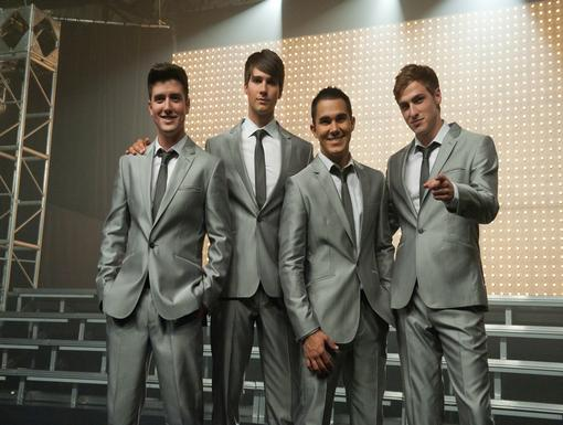 All Together Now The BTR Boys are gearing up to give a great performance!