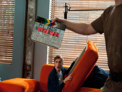 Looks Comfy|Kendall seems to have a new favorite spot on the set of Big Time Rush!