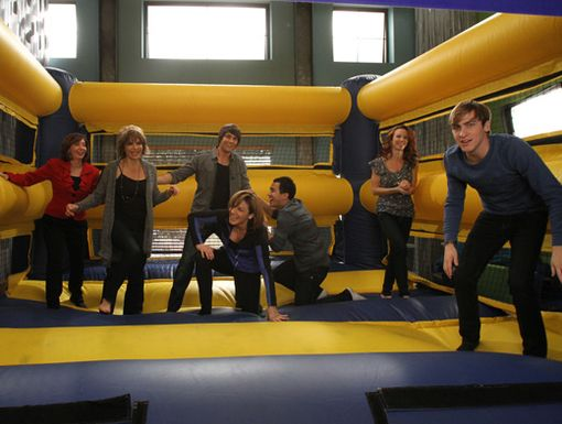 Just Jump!|The boys of Big Time Rush and their moms have major fun goofing around.