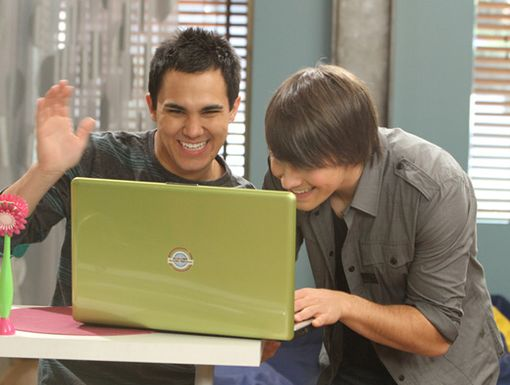 Laugh It Up|James and Carlos share some LOLs between takes!
