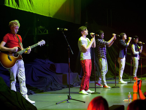 Four Plus Five|Did you know that these five awesome guys have been opening for Big Time Rush on tour?! That's nine talented boy band pipes rocking the stage at once!