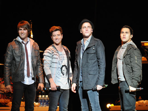 Strike A Pose|BTR proudly poses for pictures at the end of their set. Thank you, Iowa!