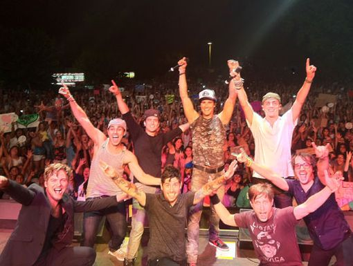 Turlock Rocked!|Here are the boys with their fans after another perfect performance in Turlock, California.