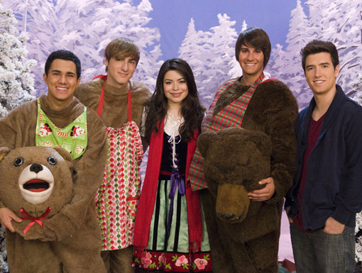 A Bear-y Merry Christmas|Dressed in head-to-toe bear get-up, the festive group poses for a picture.