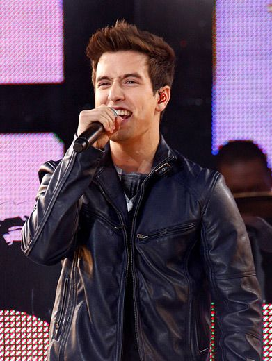 Logan's leather jacket is pure New York City rock 'n roll.