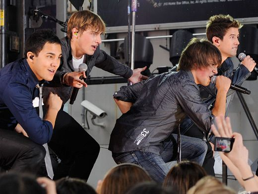 The BTR boys, who are athletic hockey stars at heart, look like a team of superheroes.