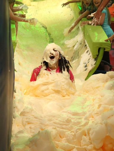 Foam-a-fied|Is that Daniella Monet in there? She's buried so deep in cerebral suds can barely see her!
