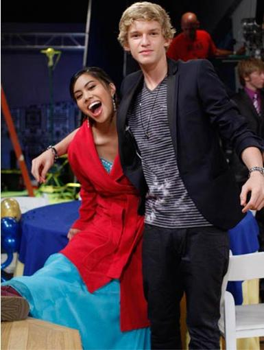 Perfect Prom Date|When the cameras aren't rolling, Ashley Argota puts on her Uggs, robe..oh, and one very handsome Cody Simpson!