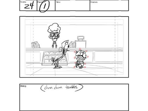 Storyboard 3: Scene 24, Panel 1|The boys brace themselves for a blast of icy bliss.