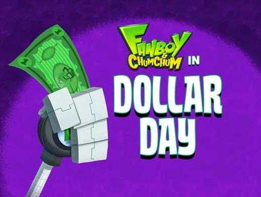 Final Title Card for Dollar Day|This is the episode's title card.
