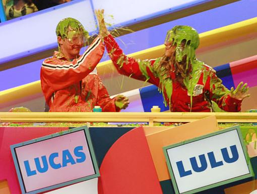 Slime Five!|Fred's very own Lucas Cruikshank and Lulu Antariksa share a very gooey post-slime high five!