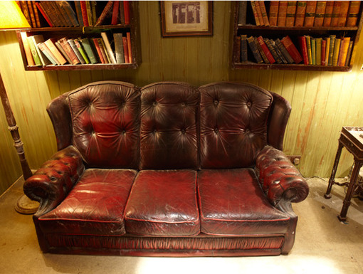 Breathe Sneezey|This isn't your average sofa. This chair is stuffed with secrets...and a good amount of dust. A-choo!