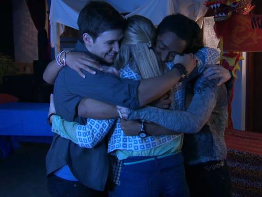 Group Hug|Everyone is sad to see Amber leave, but Alfie is definitely squeezing the tightest!