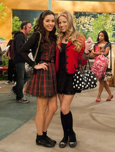 All An Act|Samantha Boscarino and Halston Sage are much nicer than their cliquey characters, Grace and Molly.