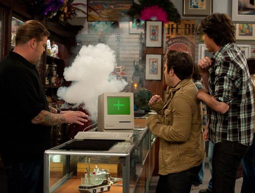 Up in Smoke|Don't look so startled guys! What else did you think was going to happen to that ancient tech box?