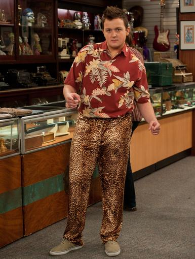 Pawn In Style It's not everyday you go to Vegas! Gibby's taking full advantage and letting his inner animal show in these leopard-print digs.