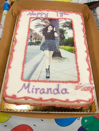 Icing on the Cake|No matter how you slice it, Miranda Cosgrove is a super sweet superstar! Her cake says it all.