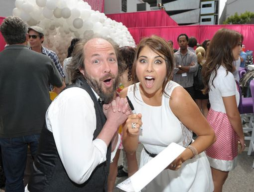 Sign of a Good Time|Daniella Monet and Eric Lange (Mr. Sikowitz) were having a total blast signing autographs before heading into the premiere.