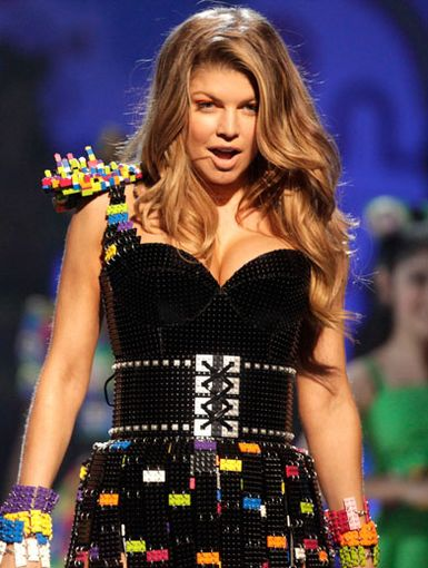 Lego of My Dress!|Fergie of the Black Eyed Peas wore a dress made of Legos (yes, Legos) during her rockin' KCA performance.