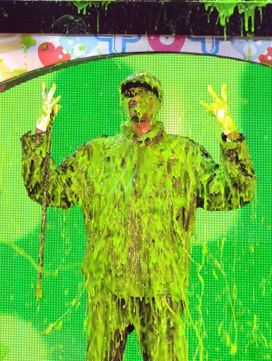 Slime Rhyme|Ever try rhyming while you're getting a sliming? Well, that's what Snoop Doggy Dogg did during his slime-azing performance this year!