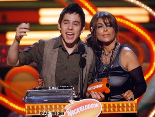 David Archuleta and Paula Abdul