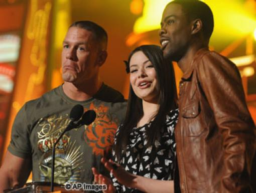 John Cena, Miranda Cosgrove, and Chris Rock