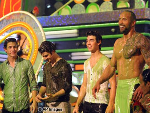 The Jonas Brothers and Dwayne Johnson