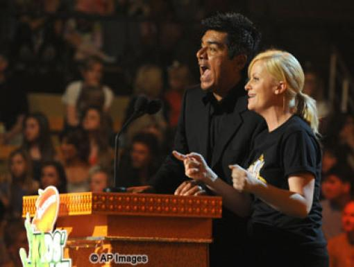 George Lopez and Amy Poehler