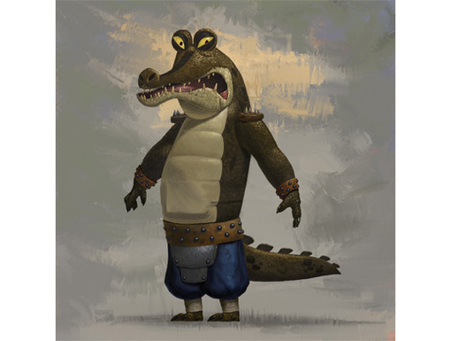 Whether you spell his name Gary or Gahri, this crooked croc is a true masterpiece.