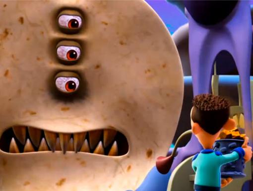 Battle of Queso|Sheen must destroy the tortilla! Luckily, he knows a thing or two about food.