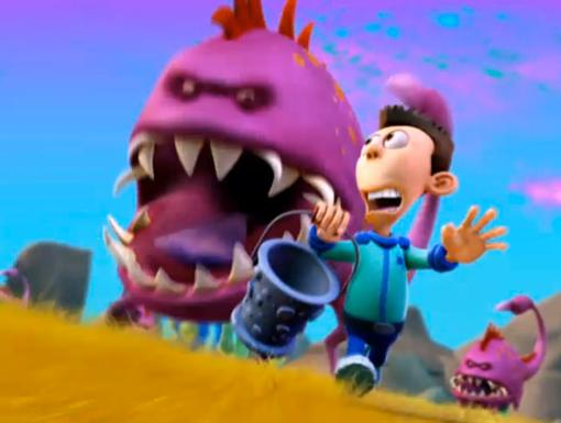 No Milk For Sheen|Sheen tries to milk a Voomph, but it really doesn't go as well as he thought it would.