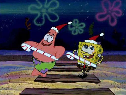 Christmas Star|Patrick and SpongeBob are doing some fancy foot-work for the holidays!