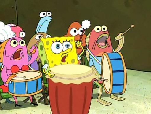Neighborly Neighbor|When he's not party rockin', SpongeBob dedicates his time to teaching local barnacles and fishy creatures the power of music, taking them from band geeks to super bands in one solo!
