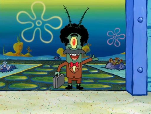 Old School|Plankton gave himself a classic make over with these groovy threads and fro!