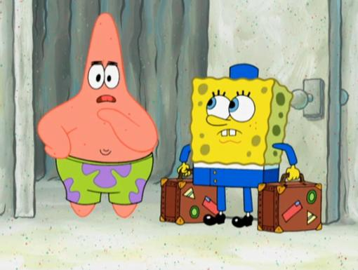 SpongeBob BellHop|May I carry your luggage sir?
