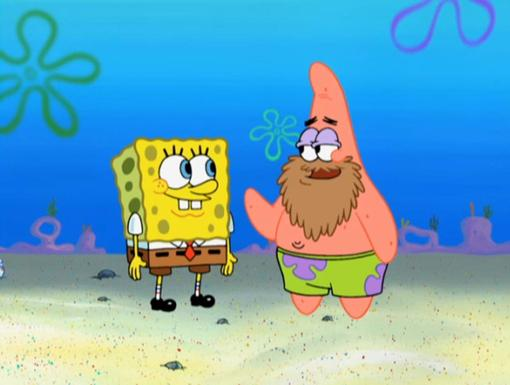 Master of Disguise|With this beard on, nobody will tell it's really Patrick...