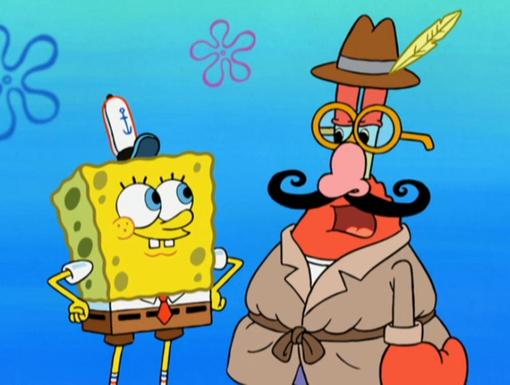 Mr. Krabs?|Plankton's not the only one going incognito!