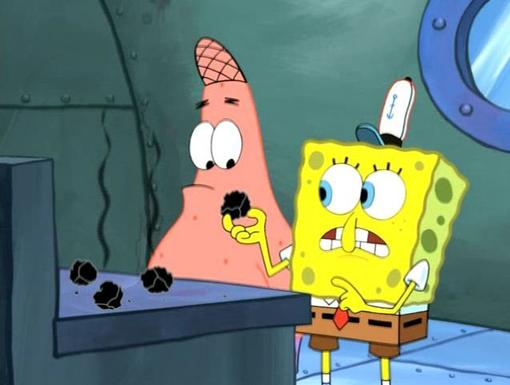 Dinner Is Served|Oh no! SpongeBob and Patrick's Krabby patties have been burnt to rocks!