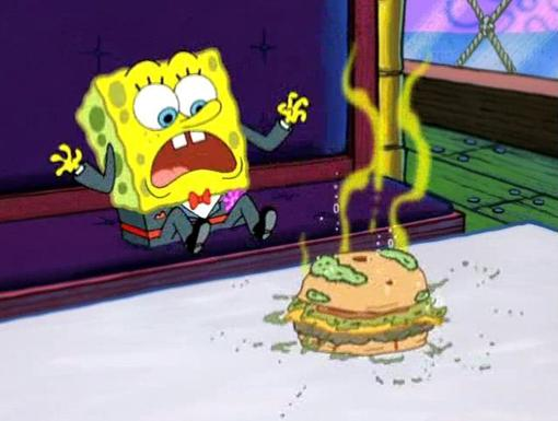 Moldy Patty|Is that a new kind of patty? Who wants a bite?!