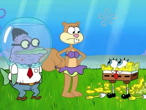 The Super Spongy Square Games|Alright seriously, somebody call a doctor.