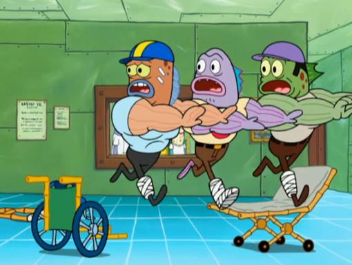The Super Spongy Square Games|Run for your lives, sports nuts! Fan fever has hit Bikini Bottom!