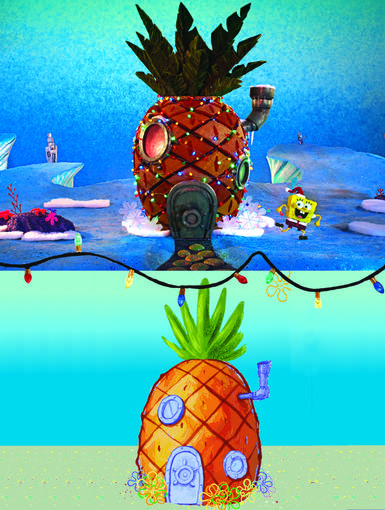 Fruit Flair|SpongeBob's pineapple is looking very merry indeed!