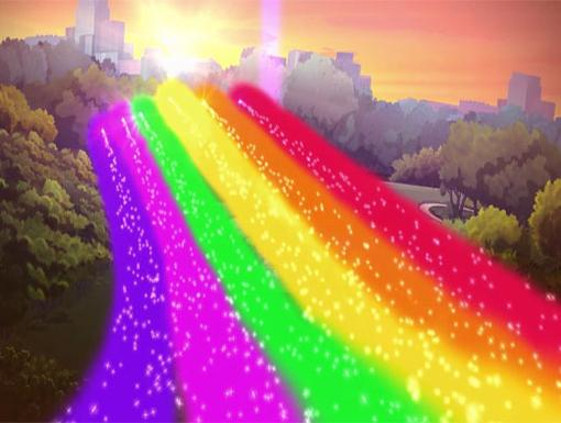 Riding the Rainbow|The Winx Club saved the Lilo, thanks to the power of Believix!