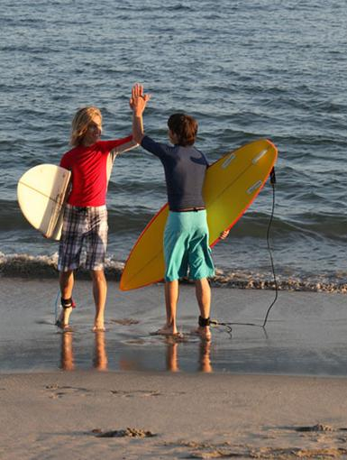 Surf Slang|Gimme five for that awesome hang ten! We've got this surfer lingo down pat...