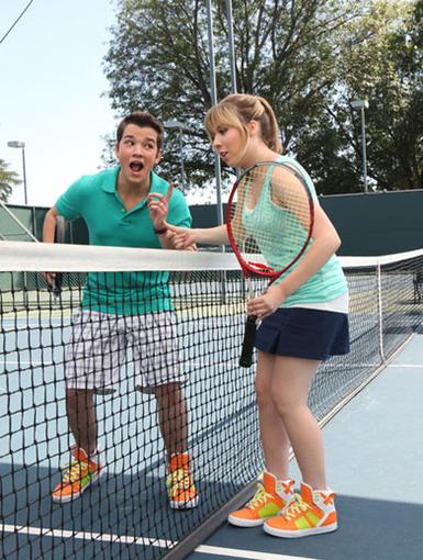 Causing A Racket|Nathan and Jennette might be getting into some on-court quarrels (per usual). But it's all in good fun!