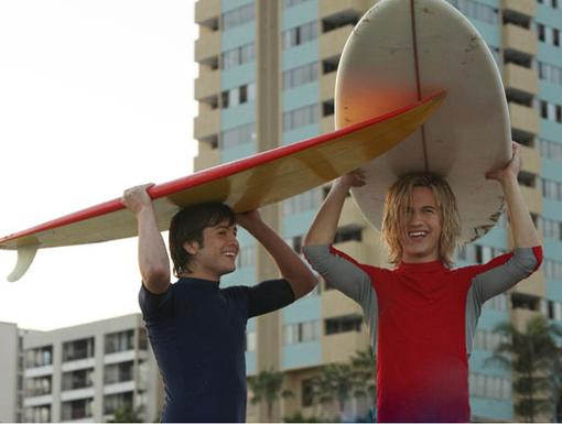 Ex-cess-ercize|Cruising on surf boards makes for a perfect work out. They also make fine hats...
