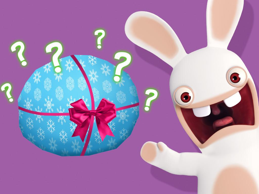 Hmm... What's this Rabbid about to unwrap?